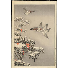 Tsuchiya Koitsu: Sparrows - 雀 - Ohmi Gallery