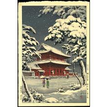 Tsuchiya Koitsu: Zojoji Temple in Snow - 増上寺の雪 - Ohmi Gallery