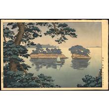Tsuchiya Koitsu: Spring Rain at Matsushima - 春雨松島 - Ohmi Gallery