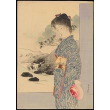 Tsutsui, Toshimine: Bijin and Stream (1) - Ohmi Gallery