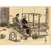 和田三造: Women Weavers - Ohmi Gallery