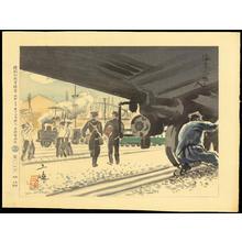 Wada Sanzo: Railway Workers - 汽車に働く人 - Ohmi Gallery