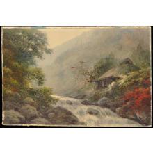 Yoshida A: Hut by Stream in Autumn (1) - Ohmi Gallery