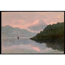 Yoshida A: Sailboats on Lake by Mt Fuji (1) - Ohmi Gallery