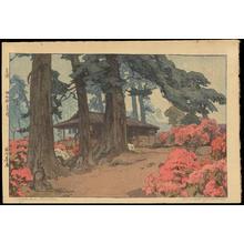 Yoshida Hiroshi: Azalea Garden (Teahouse) - Ohmi Gallery