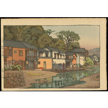 吉田博: Small Town in Chugoku - Ohmi Gallery
