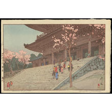 吉田博: The Choin-in Temple Gate - Ohmi Gallery