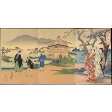豊原周延: Kinkakuji Temple (Kyoto) - 大和風俗 金閣寺 - Ohmi Gallery