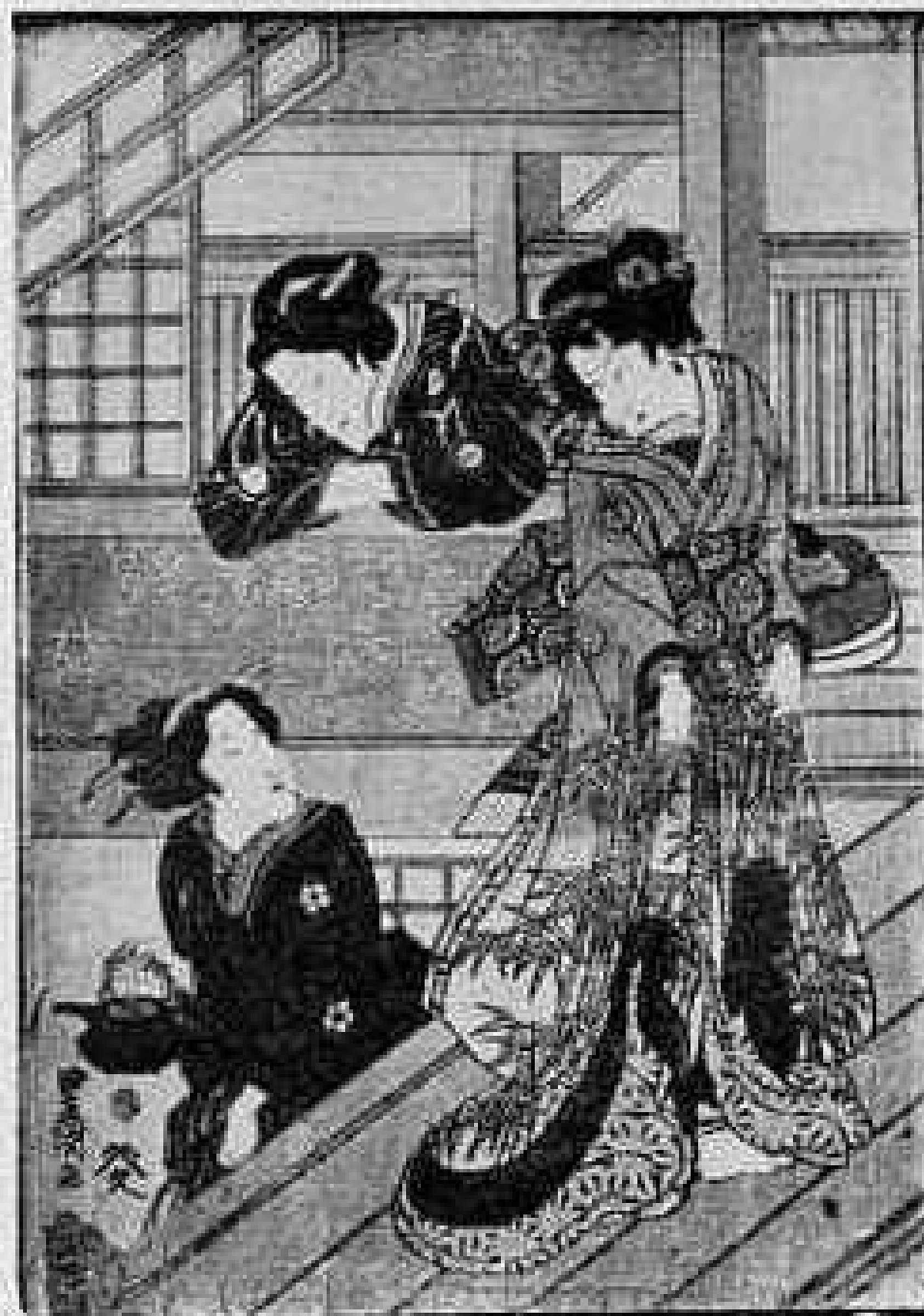 豊国: (かげまと御殿女中 左) - 立命館大学 - 浮世絵検索