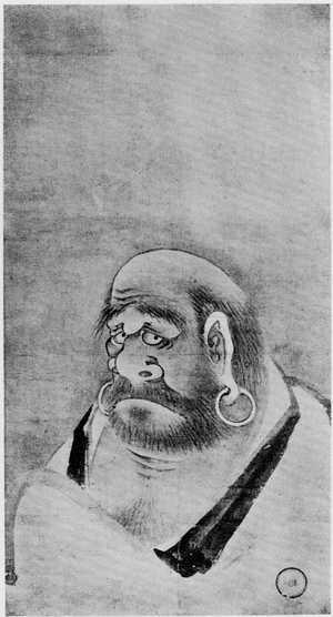 Yoshida Hanbei: (達磨像) - Ritsumeikan University