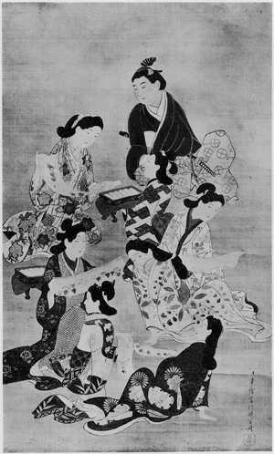 Hishikawa Moronobu: (嬋娟) - Ritsumeikan University