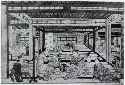 Nishimura Shigenaga: (新吉原月見之座舗) - Ritsumeikan University