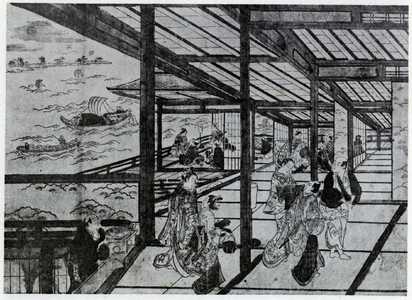 Nishimura Shigenaga: (品川月見の景色) - Ritsumeikan University