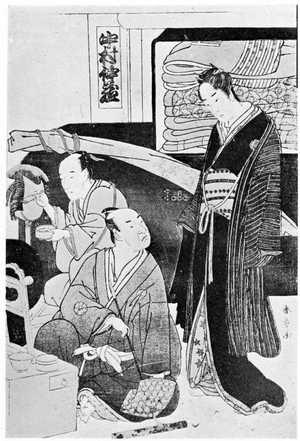 勝川春章: (楽屋の仲蔵と松江) - 立命館大学