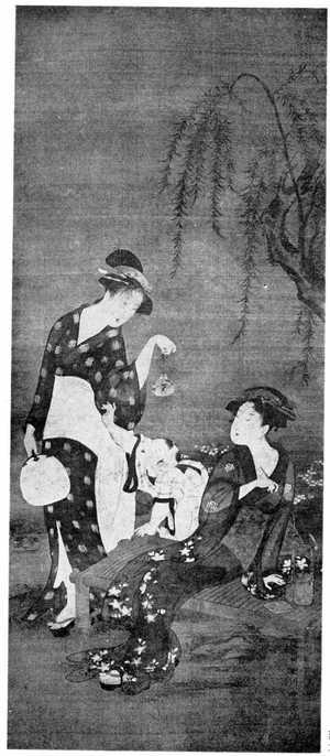 Utagawa Toyoharu: (四季美人 夏) - Ritsumeikan University