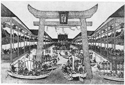 Utagawa Toyoharu: 「厳島弁才天祭礼図」 - Ritsumeikan University