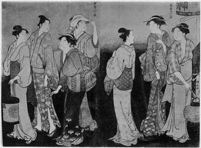 Torii Kiyonaga: 「美南見十二候 夜の送り」 - Ritsumeikan University
