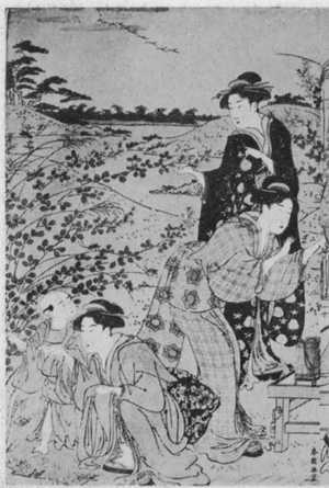 勝川春潮: (秋の行楽 左) - 立命館大学