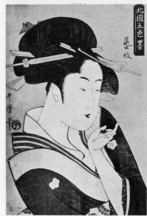 Kitagawa Utamaro: 「北国五色墨」 - Ritsumeikan University