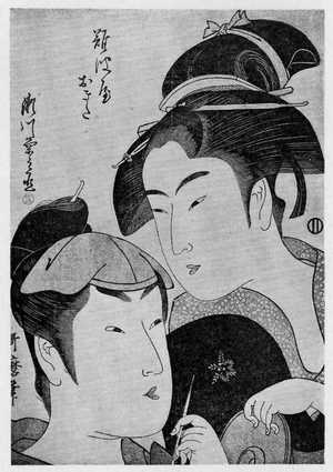 喜多川歌麿: 「難波屋おきた 瀬川菊之丞」 - 立命館大学