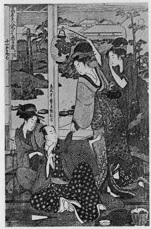 喜多川歌麿: 「高名美人見立忠臣蔵 十一段目」 - 立命館大学