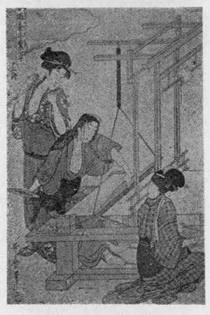 喜多川歌麿: 「女織蚕手業草 十二」 - 立命館大学