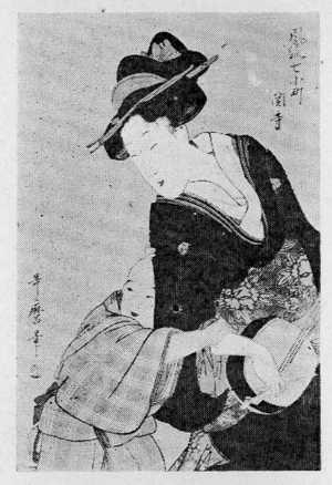 喜多川歌麿: 「風流七個町 関寺」 - 立命館大学