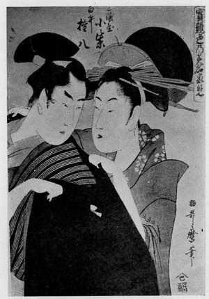 喜多川歌麿: 「宝競色の美名家見」 - 立命館大学