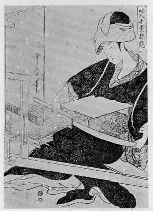 Kitagawa Utamaro: 「婦人手業操鏡」 - Ritsumeikan University