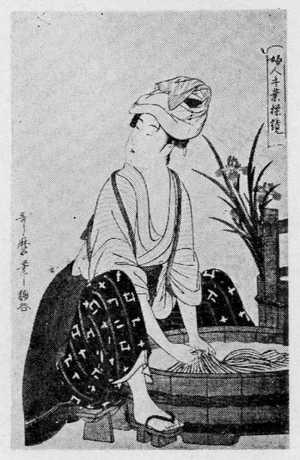 喜多川歌麿: 「婦人手業操鏡」 - 立命館大学