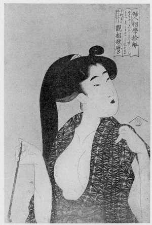 喜多川歌麿: 「婦人和学十体 煙管」 - 立命館大学