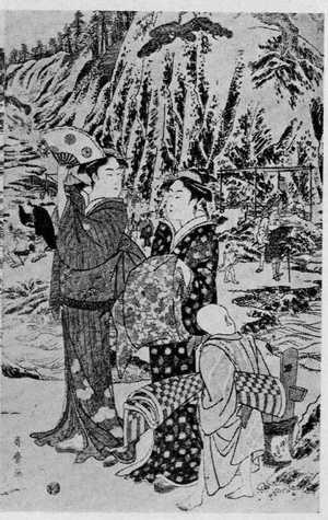 Kitagawa Utamaro: (江の島詣 右) - Ritsumeikan University