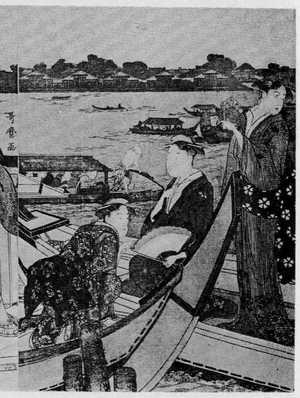 Kitagawa Utamaro: (両国の船遊び 右) - Ritsumeikan University