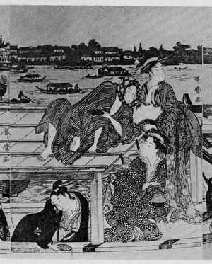 Kitagawa Utamaro: (両国の船遊び 中) - Ritsumeikan University