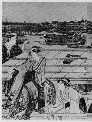 Kitagawa Utamaro: (両国の船遊び 左) - Ritsumeikan University