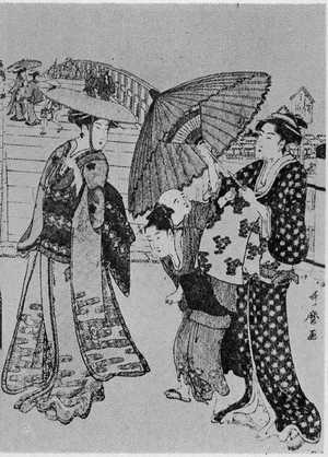 Kitagawa Utamaro: (両国橋 右) - Ritsumeikan University
