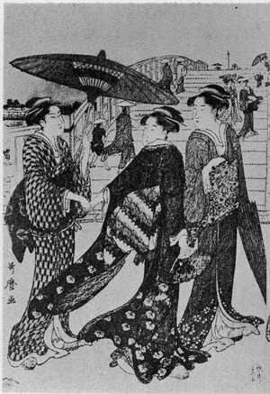 Kitagawa Utamaro: (両国橋 左) - Ritsumeikan University