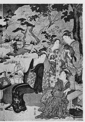 Katsukawa Shunzan: (夏の夕 右) - Ritsumeikan University