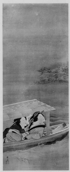 Teisai Hokuba: (雪の屋根舟) - Ritsumeikan University