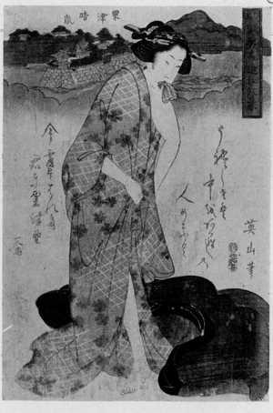 Kikugawa Eizan: 「風流美人近江八景」 - Ritsumeikan University