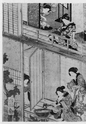 Ochiai Yoshiiku: (女郎部屋図 左) - Ritsumeikan University