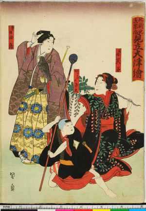 Utagawa Kunikazu: 「北新地立峰店 見立大津絵」 - Ritsumeikan University