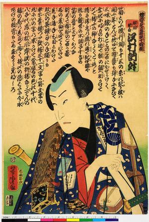 Utagawa Yoshitora: 「俳優見立遊侠十個揃」「松風琴吾 沢村訥升」 - Ritsumeikan University