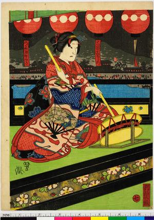Utagawa Yoshitaki: 「大谷友右衛門」「明石屋紫道」「七」 - Ritsumeikan University