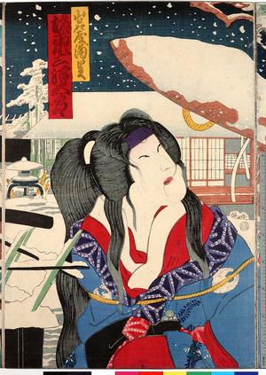 Toyohara Kunichika: 「山名屋浦里 坂東三津五郎」 - Ritsumeikan University