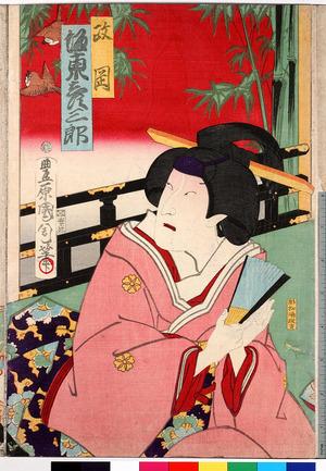 Toyohara Kunichika: 「政岡 坂東彦三郎」 - Ritsumeikan University