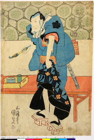 Utagawa Kunisada: 「★★組ノ男達月見ノ三五郎 坂東簑助」「一」 - Ritsumeikan University