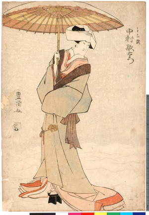 Utagawa Toyokuni I: 「とな瀬 中村歌右エ門」 - Ritsumeikan University