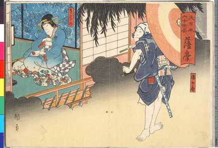 Utagawa Kunikazu: 「大日本六十余州 薩摩」 - Ritsumeikan University