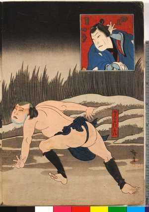 Utagawa Hirosada: 「磯上豆四郎」「どらのによ八」 - Ritsumeikan University